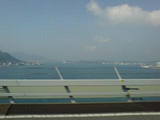 関門海峡を通過~