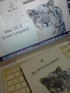 Snow Leopardをガオーっと入れてみたのだ