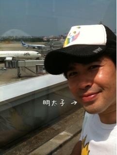 福岡空港に到着ー!