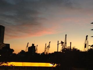 絵になる東京の夕焼け小焼け
