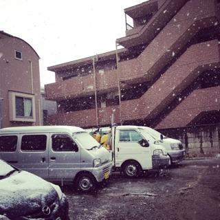 雪降っておりまするー